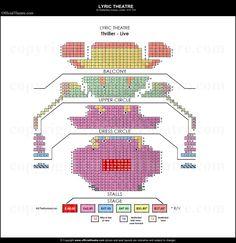 Lyric Theatre seat plan and prices