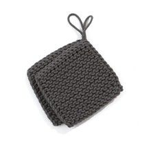 Knitted Potholders - Charcoal