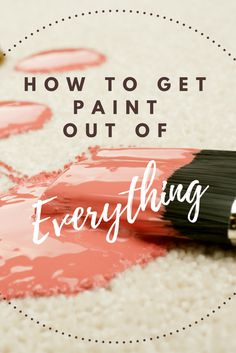 During any painting project, it's inevitable that some paint spills and splatters. Even the most careful painters can find their hard work marred by drips on the countertop, linoleum, or carpeting. Fortunately, you can clean up most paint spills with a few handy household cleansers and tools. Here are some tips on how to remove paint from a variety of surfaces. Deep Cleaning Tips, House Cleaning Tips, Cleaning Solutions, Spring Cleaning, Cleaning Hacks, Green Cleaning, All You Need Is, Homemade Toilet Cleaner, Cleaning Painted Walls