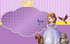 Sofia the First: Free Printable Kit. Barbie Birthday Invitations, Disney Princess Invitations, Princess Sofia Party, Princess Sofia The First, Sofia The First Birthday Party, Happy 4th Birthday, Cat Party, Party Kit, Princesa Sophia