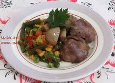 Ficatei cu legume la cuptor Meat, Chicken, Food, Essen, Meals, Yemek, Eten, Cubs