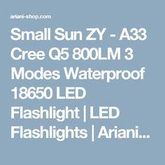 Small Sun ZY - A33 Cree Q5 800LM 3 Modes Waterproof 18650 LED Flashlight | LED Flashlights | Ariani-Shop.com