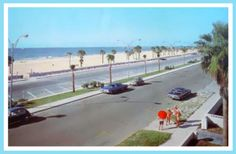1960s Clearwater Beach Florida. Those were the days---when you could still get a parking space and the locals could enjoy the beach