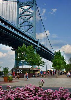 Philadelphia's Race Street Pier along the waterfront to Penn's Landing. (Photo by R. Kennedy for GPTMC)