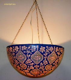 Orientalische handbemalte Lampe Kamelleder Reich 1001-Nacht  Camel Skin Lamp No5