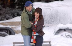 Lorelai and Luke - Gilmore Girls  He makes her an ice rink in her front yard.  True love
