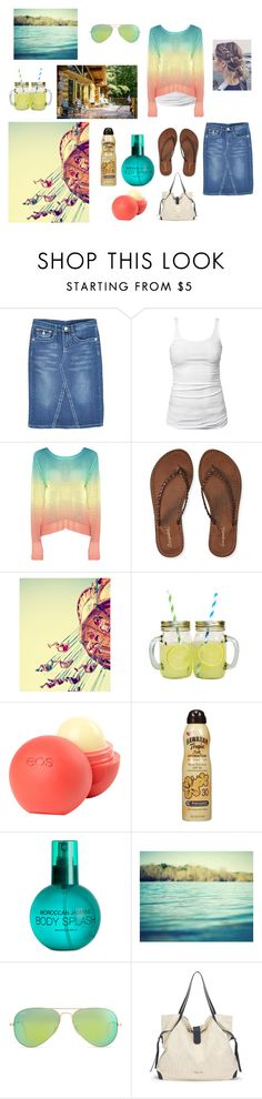 """""""Summer fun"""" by tiffanyjo ❤ liked on Polyvore featuring James Perse, Aéropostale, dELiA*s, Hawaiian Tropic, H&M, Ray-Ban and Splendid"""