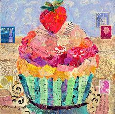 paintings of cupcakes - Google Search Cinderellas Cupcake by Nancy Standlee