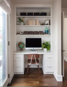 Collection In Built-In Desk Ideas For Small Spaces Small Space Offic .Collection In Built-In Desk Ideas For Small Spaces Small Space Office Design Ideas Home Design Interiors Androom facilitiesString System Metal shelf 58 stringstringOffice chairs Small Home Offices, Small Space Office, Home Office Space, Home Office Desks, Home Office Furniture, Small Spaces, Furniture Ideas, Furniture Layout, Apartment Office