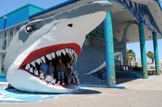 Step into a sharks mouth when shopping in Port Aransas