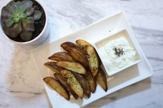 Roasted Potatoes with Sour Cream Dip!