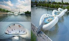 Embedded image permalink A bridge made entirely of trampolines! I'd like to know where this is...