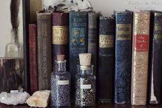 Antique books and dried herbs.