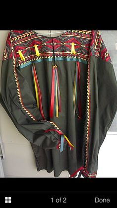 Ribbon shirt Native American Clothing, Native American Regalia, Native American Fashion, Clothes Crafts, Sewing Clothes, Aboriginal Clothing, Ribbon In The Sky, Native Wears, Culture Art