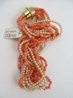 Vintage KJL Kenneth J Lane Necklace Trifari by LadyandLibrarian, $61.00
