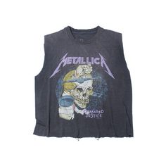Metallica Damaged Justice Vintage T-Shirt 1988 ($125) ❤ liked on Polyvore featuring tops, t-shirts, cut-off, cut off shirts, cutoff shirt, cutoff t shirt and vintage tops