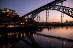 The Ponte de Dom Luís I stretches from the Ribeira section of Porto, Portugal, over the River Douro to Vila Nova de Gaia.  ~Daniel Rodrigues | The New York Times