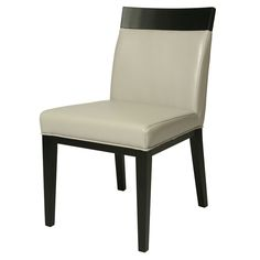 Add an element of modern sophistication to your dining are with the Elloise bonded leather side chair, featuring a simple design with clean lines and a classic appeal. A sleek, black finish on the legs complements the grey or white upholstery. Pastel Furniture, New Furniture, Furniture Makeover, Furniture Design, Furniture Chairs, Furniture Ideas, Living Room Chairs, Dining Chairs, Dining Area