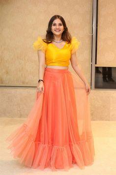 Indian Actress Ramya Pasupuleti In Pink Lehenga Yellow Choli Hindi Actress, Indian Film Actress, Indian Actresses, Pink Lehenga, Yellow Saree, Hot Images Of Actress, Actress Photos, Tight Thighs, Indian Heroine Photo