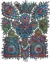 Wonderful fiber art by Susan Lenz.