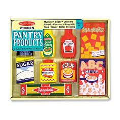 Pantry Products Set Wooden Play Food for Children by Melissa & Doug