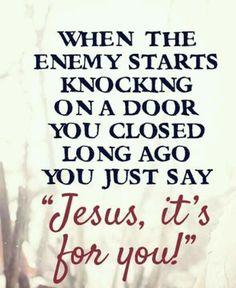 God will answer...
