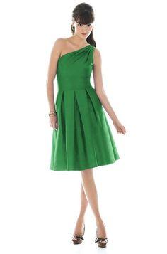 Alfred Sung Emerald Green Bridesmaid Dress.