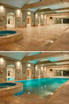 Stock Tank Swimming Pool Ideas, Get Swimming pool designs featuring new swimming pool ideas like glass wall swimming pools, infinity swimming pools, indoor pools and Mid Century Modern Pools. Find and save ideas about Swimming pool designs. Hotels, Indoor Swimming Pools, Indoor Pools In Houses, Lap Swimming, Luxury Swimming Pools, Lap Pools, Night Swimming, Backyard Pools, Pool Landscaping