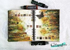 Art Journal with paints