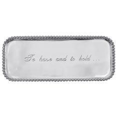 Mariposa To Have and to Hold Pearl Rectangular Tray