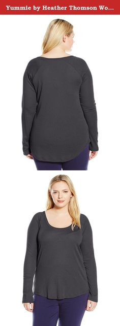 Yummie by Heather Thomson Women's Plus Size Baby Rib Long Sleeve Raglan, Asphalt, 3X. Designed to drape perfectly, our raglan long sleeve tee features luxurious pima cotton for a super-soft feel. Stylish yet casual, this slightly fitted silhouette is perfect for layering and lounging.