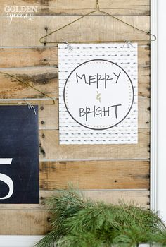 Merry & Bright Free Printable - The Golden Sycamore