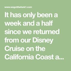 It has only been a week and a half since we returned from our Disney Cruise on the California Coast and we are already missing it and ready to go back! When I shared some photos on social media, the most liked of my photos were of our cruise ship room door! I decided I...Read More