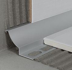 Proround M silver anodised aluminium Wc Design, Toilet Design, Floor Design, Wet Room Bathroom, Small Bathroom, Tile Edge, Ceiling Light Design, Tile Trim, Bathroom Design Luxury