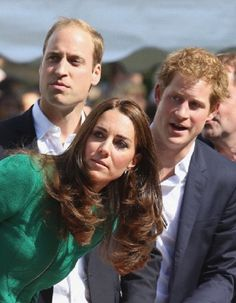 Catherine, Duchess of Cambridge, Prince William, Duke of Cambridge and Prince Harry watch riders at the finish line of Stage 1 of the Tour De France, 05.07.2014 in Harrogate, UK