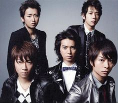 Arashi are Satoshi Ohno, Kazunari Ninomiya, Masaki Aiba, Jun Matsumoto, Sho Sakurai