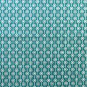 """Ellen Luckett Baker Framework Canvas - Daisy Chain (Teal)  15% Linen/85% Cotton, canvas, 44/45"""" wide"""