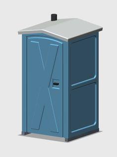 HO Scale Porta-Potty