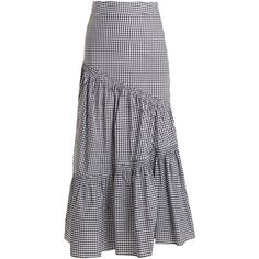Teija champions the season's love of gingham in a distinctly modern way with this black and white cotton skirt. It falls loosely over the body from a high-ris… Black And White Skirt, Black White, Gingham Skirt, Cute Dresses, Summer Dresses, High Waisted Skirt, Waist Skirt, Asymmetrical Skirt, African Wear