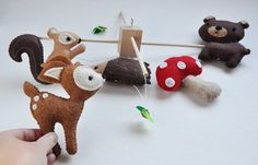 Customized Hanging Woodland Mobile CHOOSE YOUR by CarrotFever