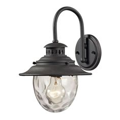 Searsport 1 light Outdoor Sconce In Weathered Charcoal 45040/1