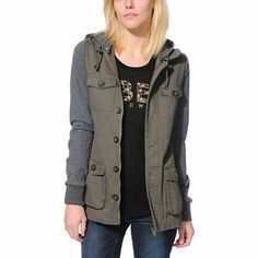 9af573526 The Fleeced Out Green and Grey parka jacket from Thread & Supply is a  stylish choice just in time for the winter.