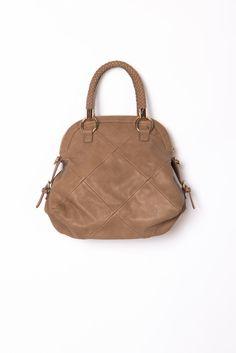 Bowler Handbag - Natural