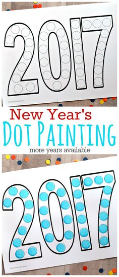 dot painting new years activity for kids