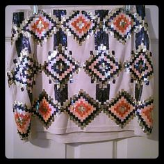 Aztec print sequined miniskirt PRICE DROP LIMITED TIME ONLY  Beautiful skirt ?? Worn only once lovemarks Dresses