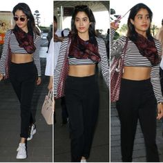 Jhanvi kapoor actress thunder thighs sexy legs images and sexy boobs picture and sexy cleavage images and spicy navel images and sexy biki. Trendy Fashion, Korean Fashion, Girl Fashion, Fashion Kids, Slimming World, Hugs, Airport Look, Airport Style, Street Chic