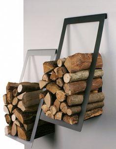 Wood stocking shelves