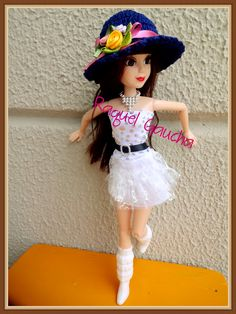 #Abbie #Doll #Muñeca #Chapéu #Crochet #Hat #RaquelGaucha