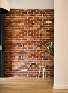 California - design home with recycled brick in the exterior and stylish bright interior - CAANdesign Brick Interior, Interior House Colors, Modern House Facades, Modern House Design, Brick Feature Wall, Recycled Brick, Facade House, House Exteriors, Rustic Bathrooms