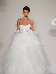 Sweetheart Princess/Ball Gown Wedding Dress  with Natural Waist in Chantilly Lace. Bridal Gown Style Number:32614216